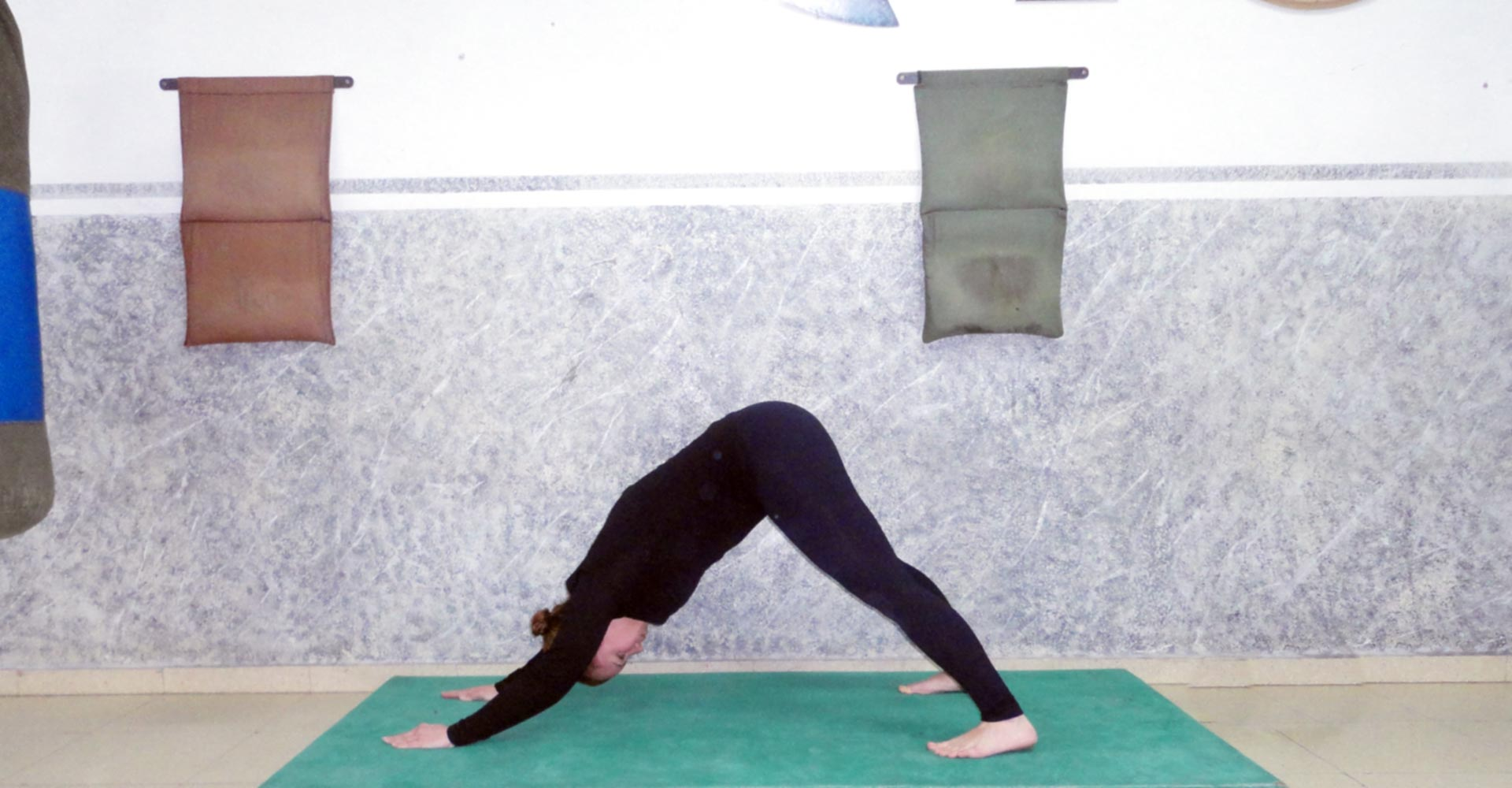 Pilates - Una de las posiciones de la clase de Pilates