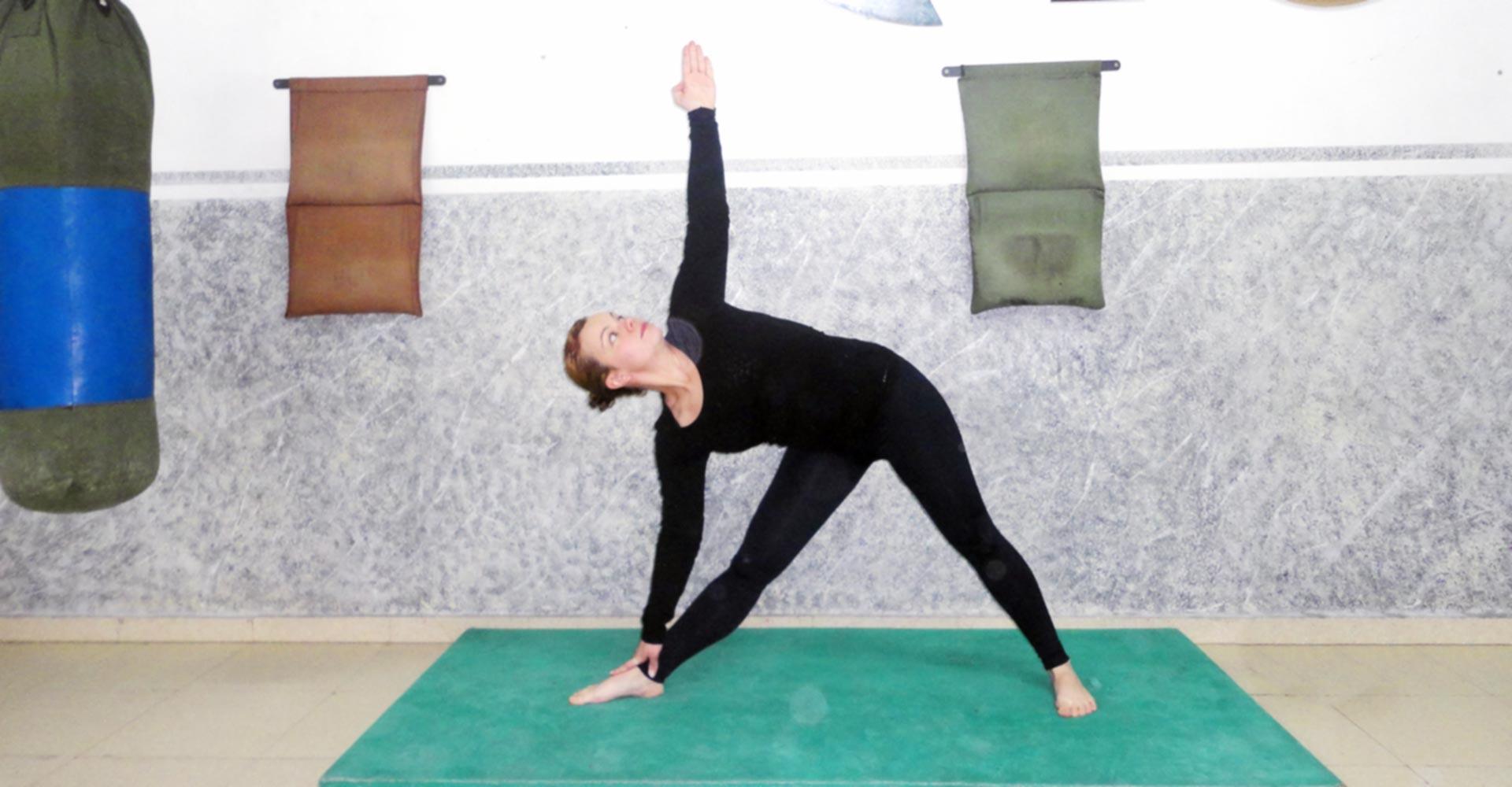 Pilates - Posición del Triángulo'